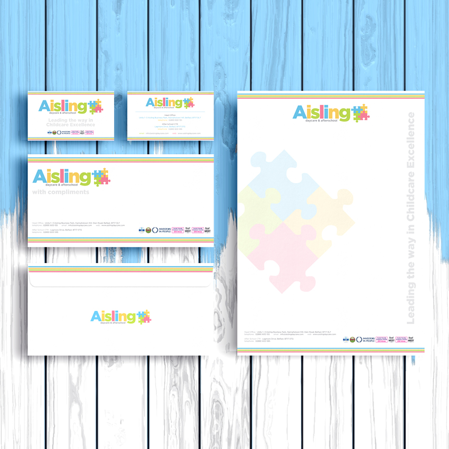igniteddesigns - letterhead compliment slip print design belfast