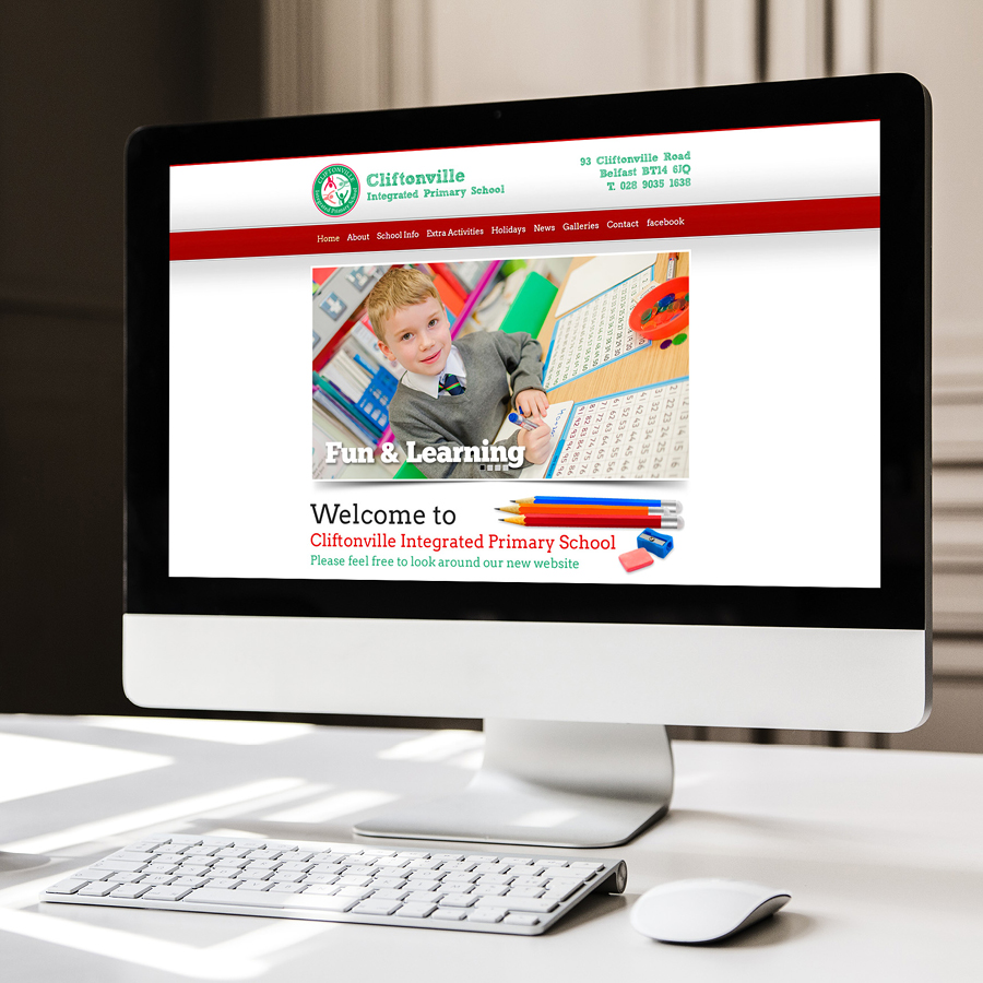 igniteddesigns - primary school website design belfast