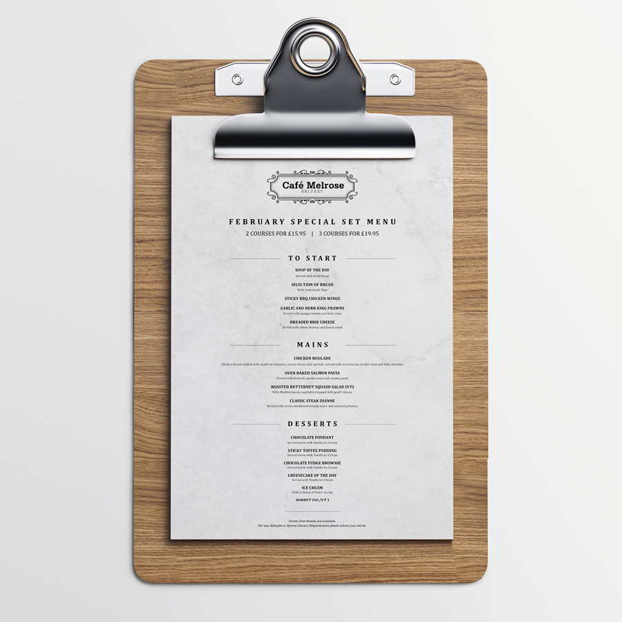 igniteddesigns - restaurant website menu