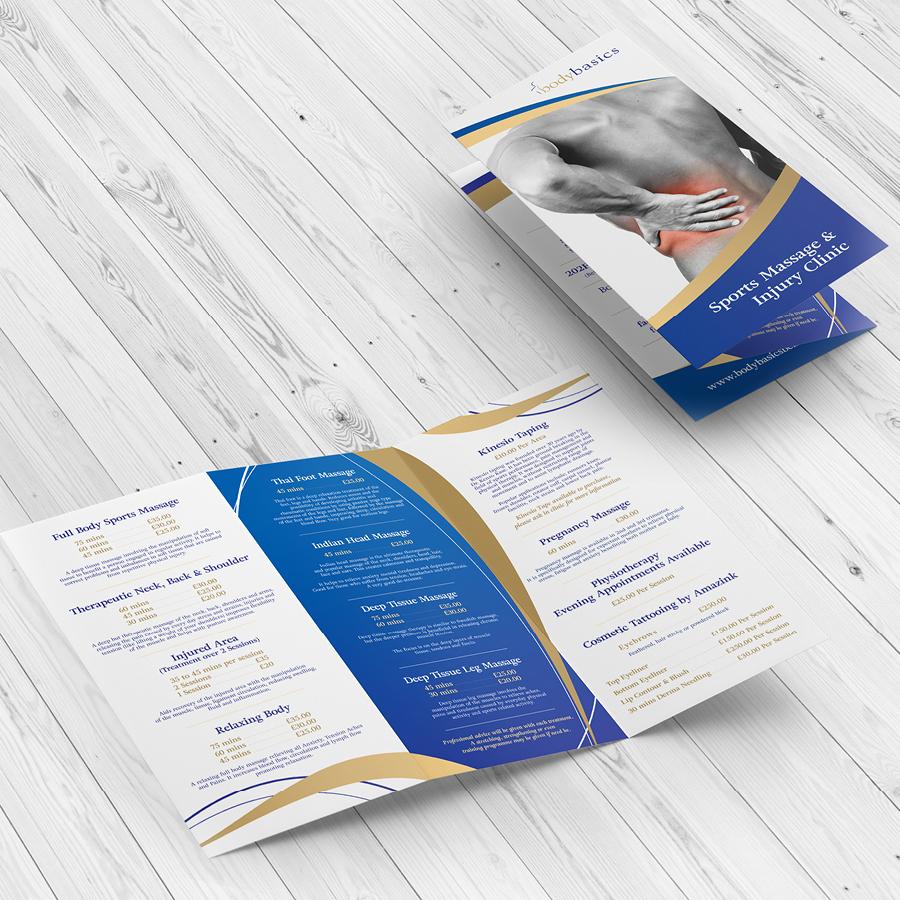 igniteddesigns - z fold trifold flyer leaflet print design belfast