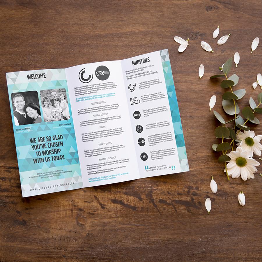 igniteddesigns - trifold flyer design print northern ireland